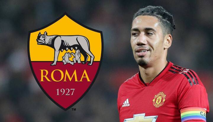 AS Roma agree loan fee for Chris Smalling